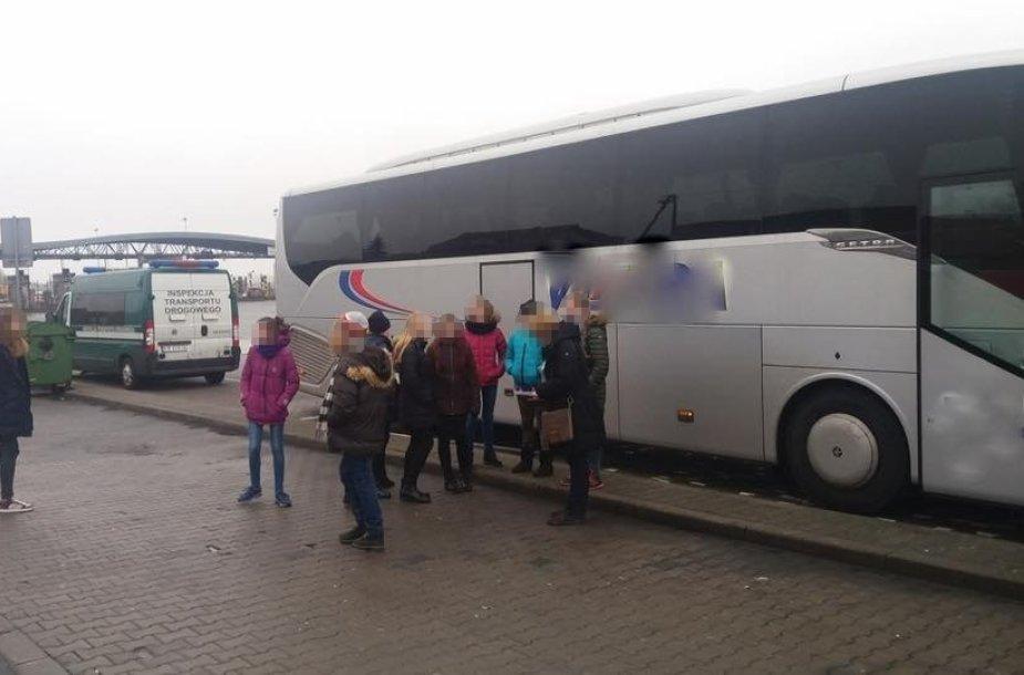 Lietuvių autobusas Lenkijoje