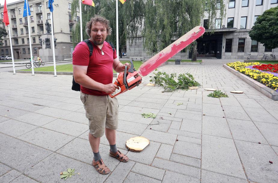 Protestas prieš medžių kirtimą