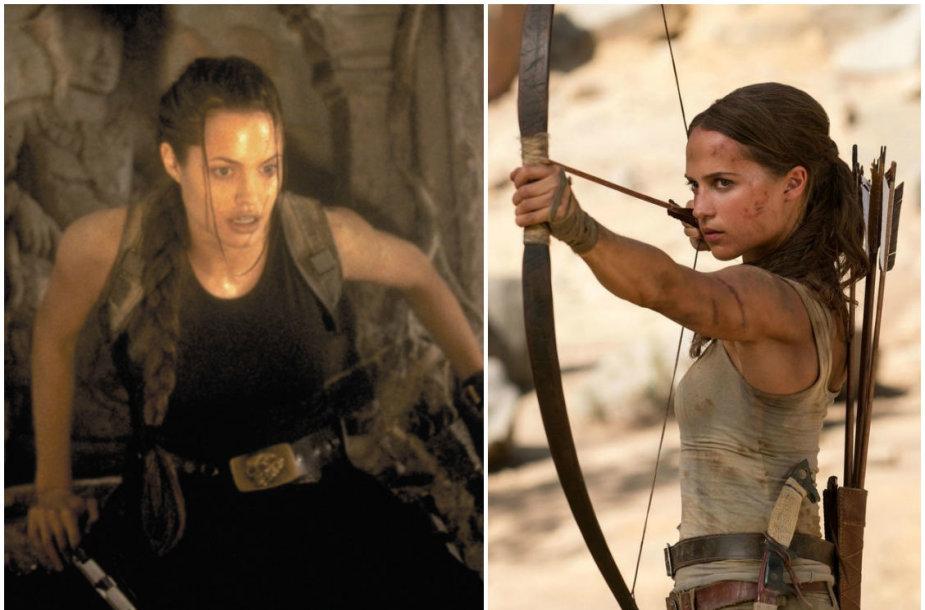Angelina Jolie ir Alicia Vikander