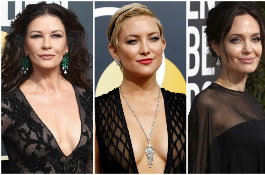 Catherine Zeta-Jones, Kate Hudson ir Angelina Jolie