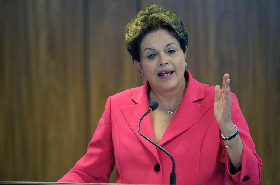 3 vieta – Brazilijos prezidentė Dilma Rousseff