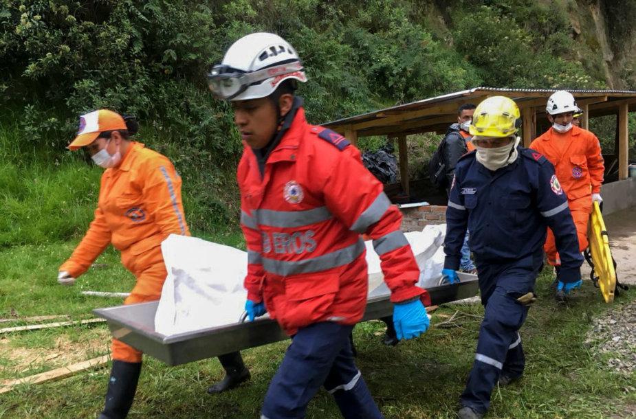 Gelbėtojai Kolumbijoje