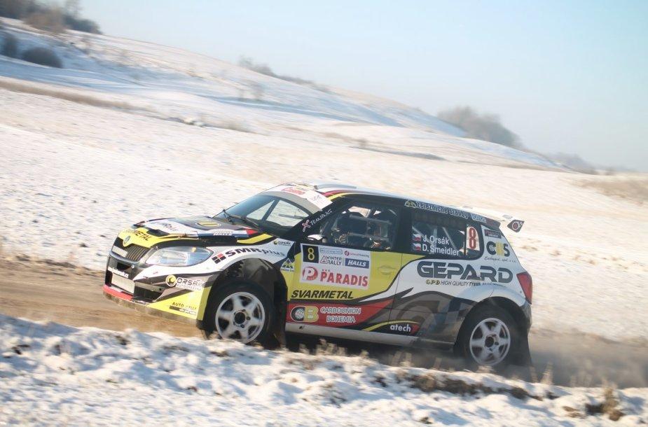 """Halls Winter Rally 2014"" bandomasis greičio ruožas"