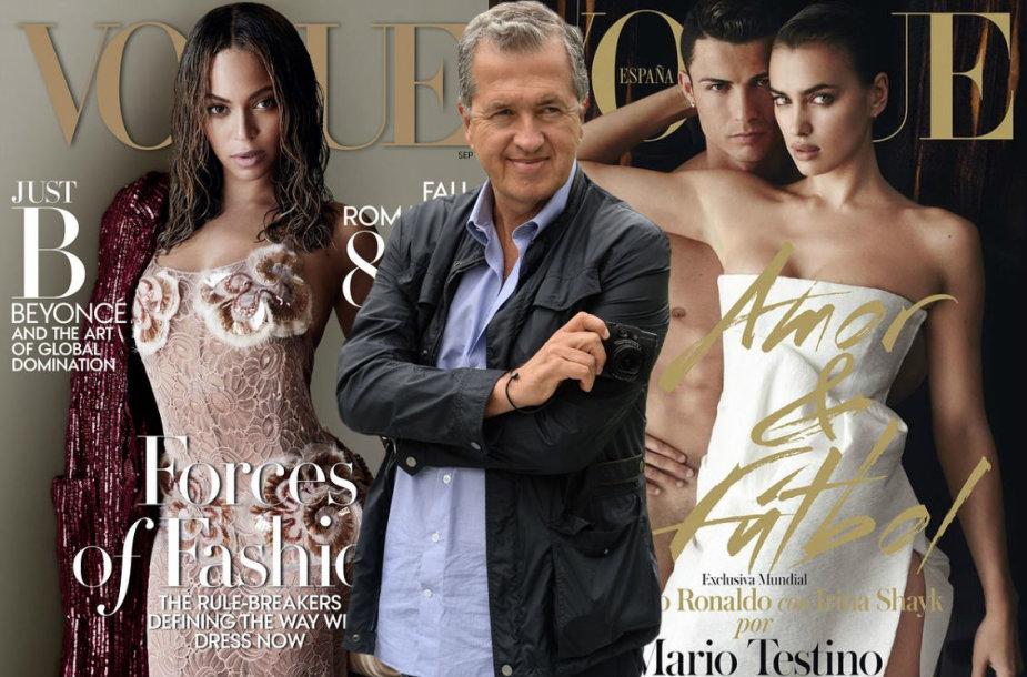 """Mario Testino """"Vogue"""" viršeliai su Beyonce ir Cristiano Ronaldo bei Irina Skayk"""