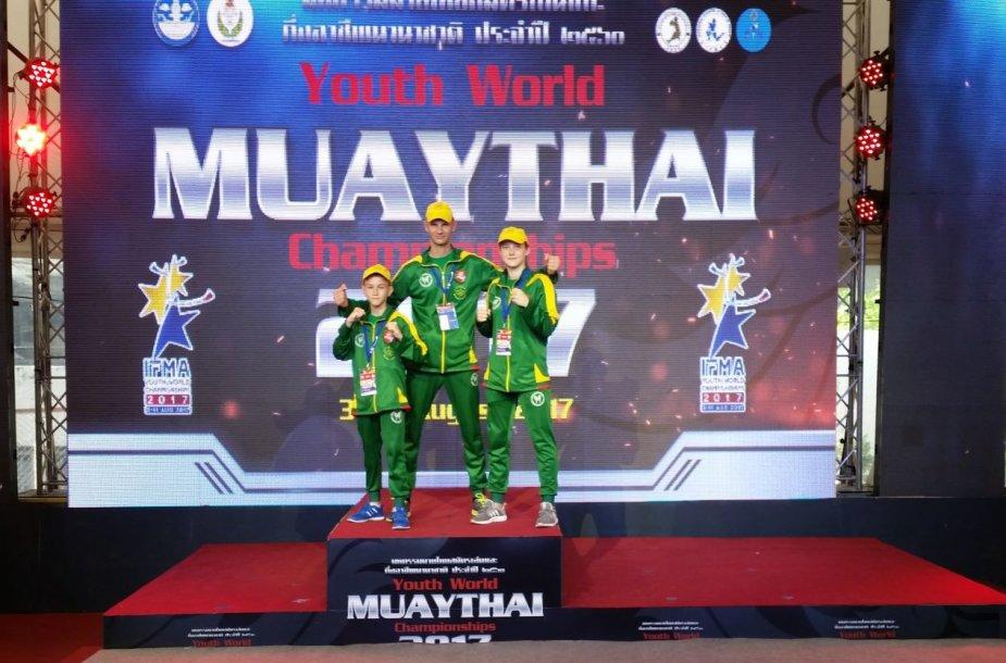 Lietuvos jaunimo muaythai rinktinė pasaulio čempionate Tailande