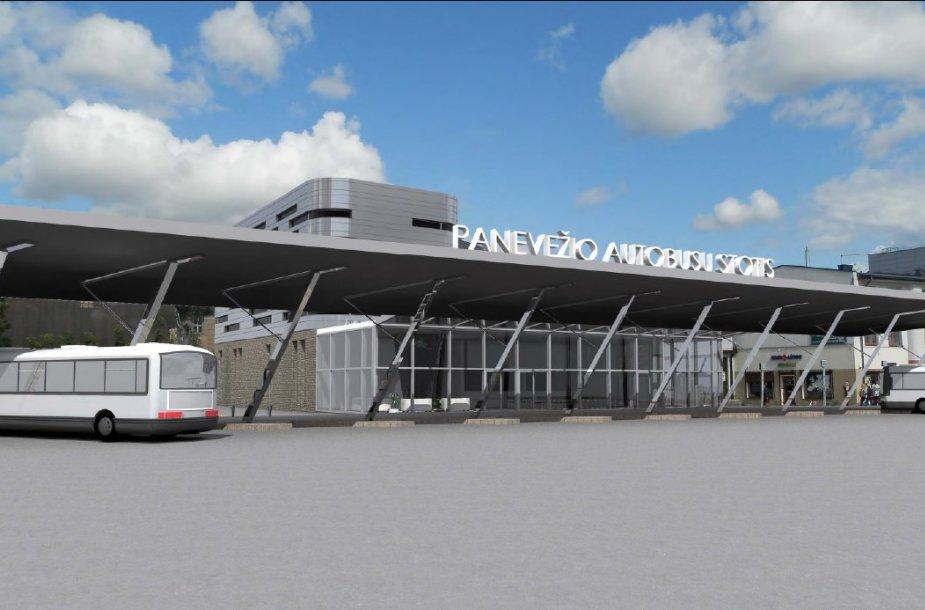Panevėžio autobusų stoties vizualizacija