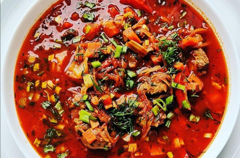 Barštelių sriuba su antiena