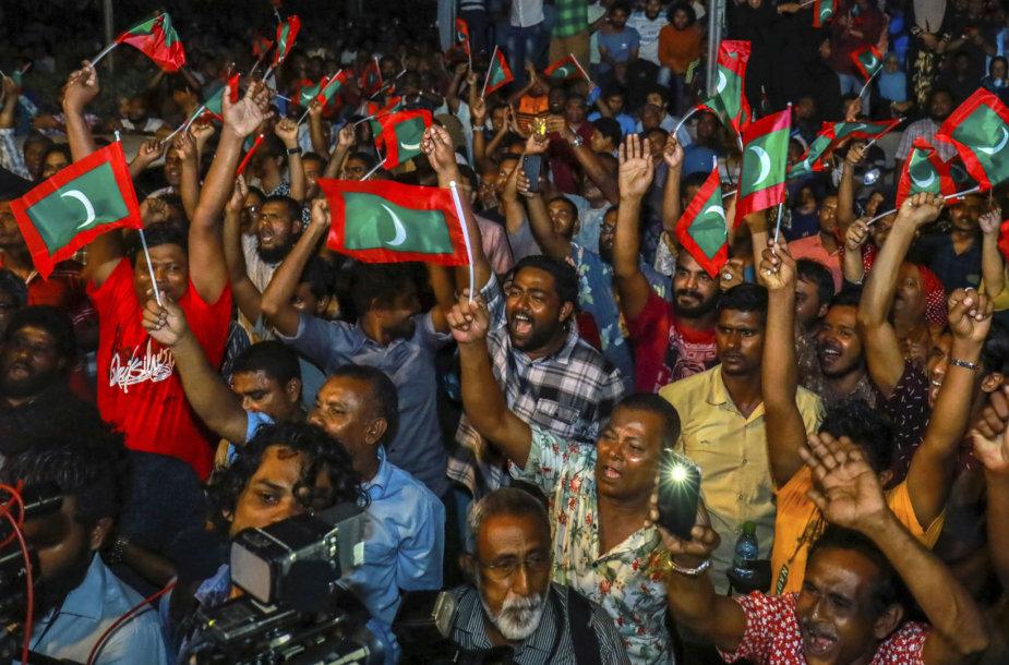 Maldyvų opozicijos protesto akcija