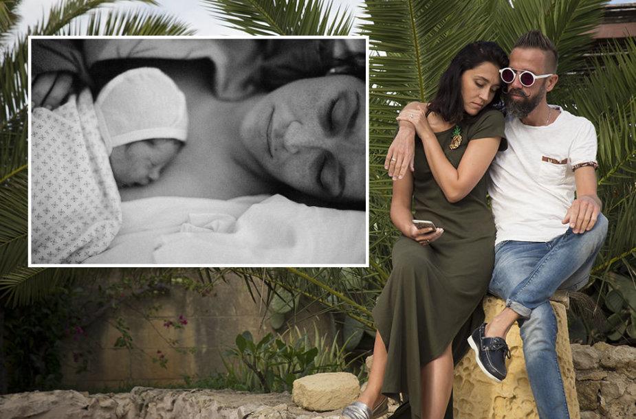 Linas ir Irma Adomaičiai dukrai išrinko Saulės vardą