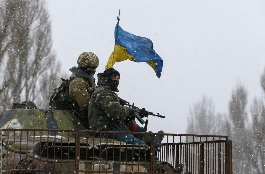 Ukrainos kariai netoli Debalcevės