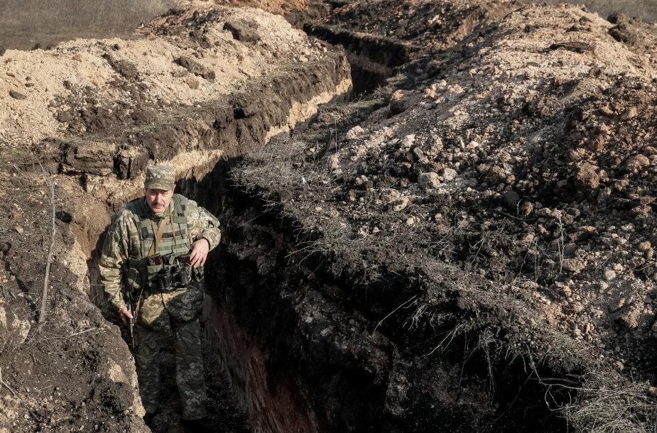 Ukrainos karys apkasuose