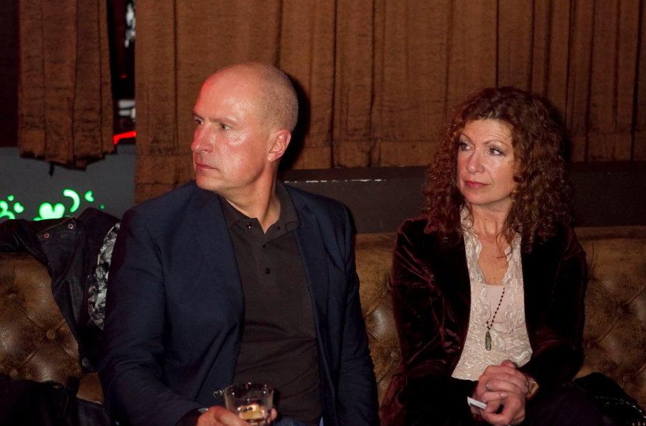 Egidijus Sipavičius su žmona Vaida 2012 metais