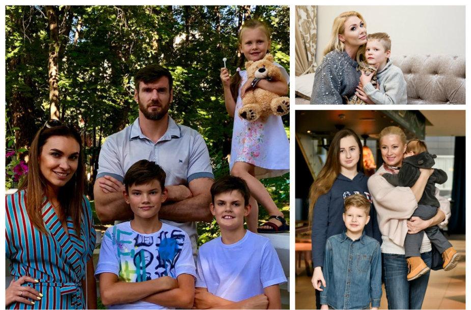 Kšištofas Lavrinovičius su šeima, Natalija Bunkė su sūnumi Kristupu ir Renata Norvilė su vaikais