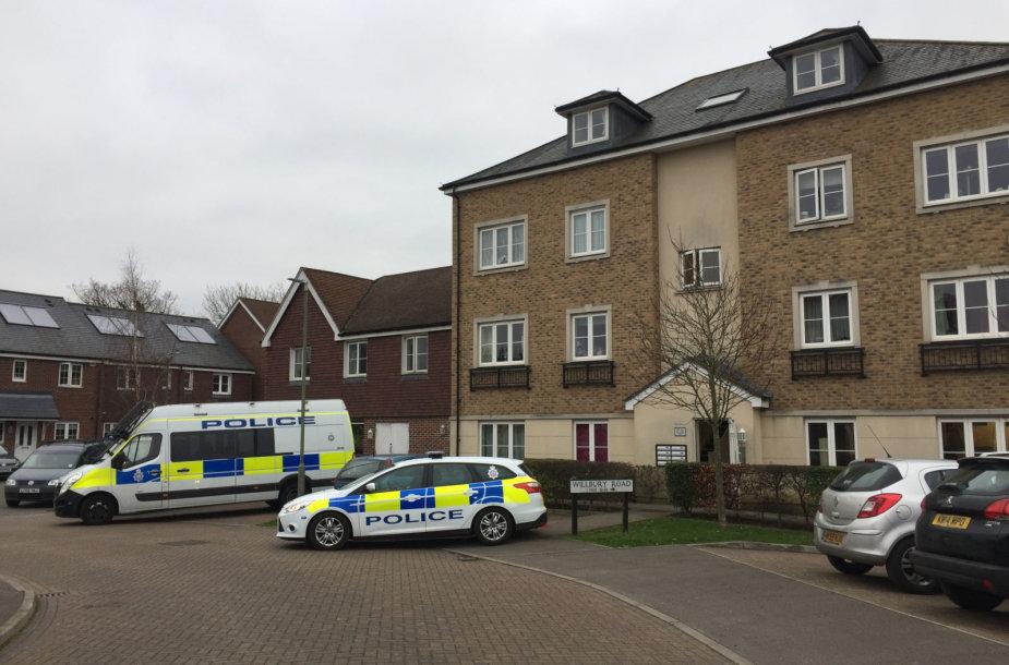 Namas, kuriame sulaikyti įtariamieji