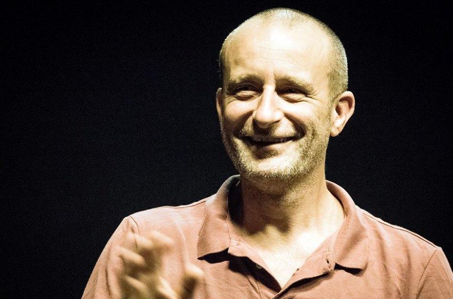 "Spektaklio ""Durys"" repeticija. Jo Stromgren"