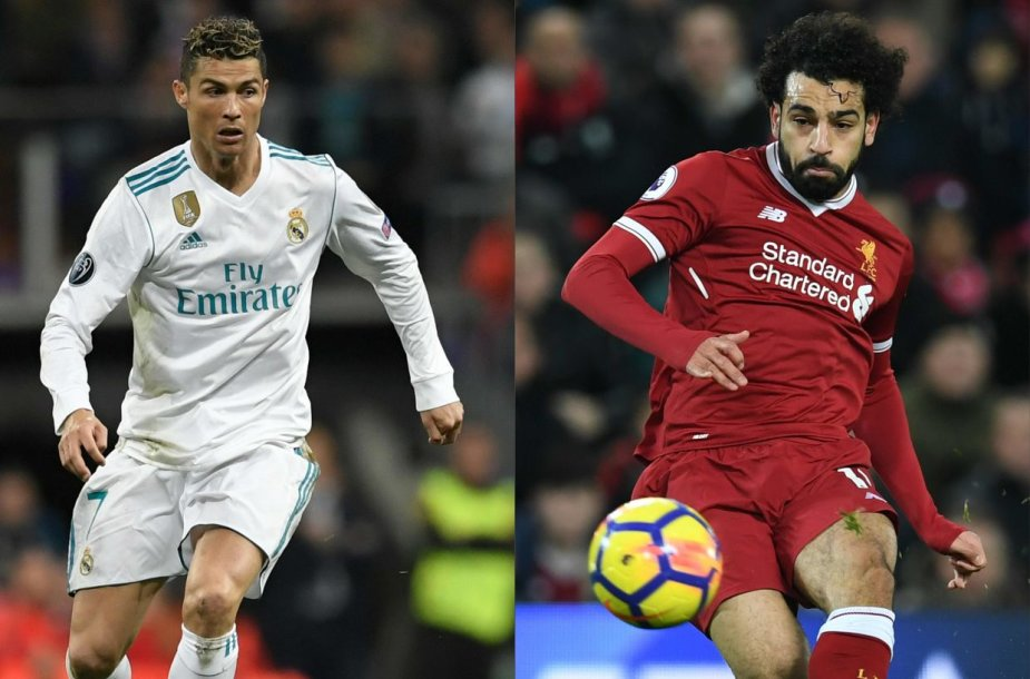 Cristiano Ronaldo ir Mohamedas Salah