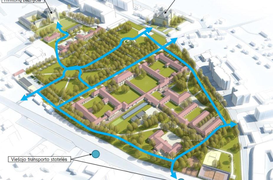 Taip ateityje turėtų atrodyti Sapiegos ligoninės teritorija
