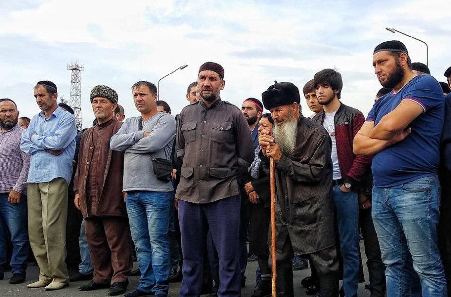 Protestuotojai Ingušijoje