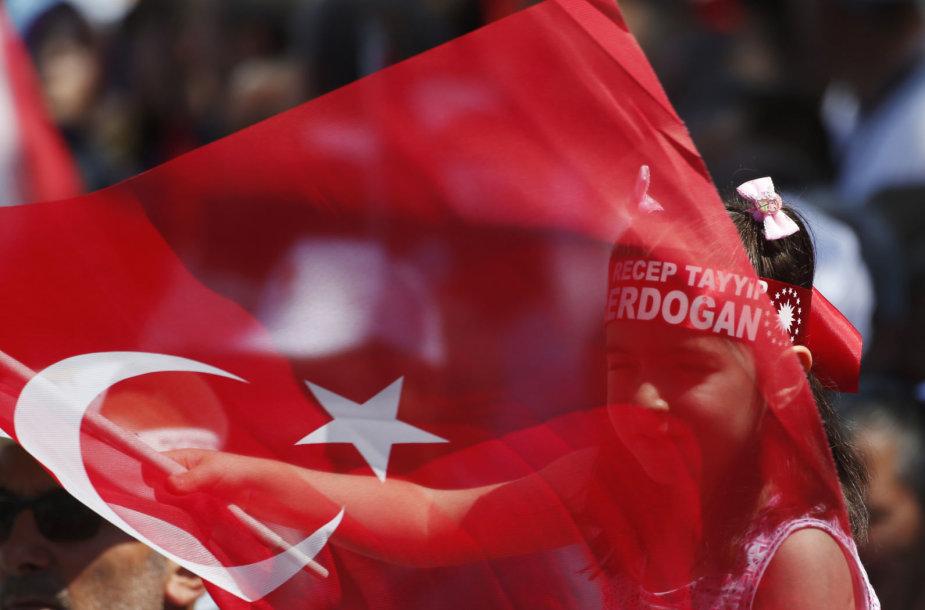 Recepo Tayyipo Erdogano partijos rėmėjai