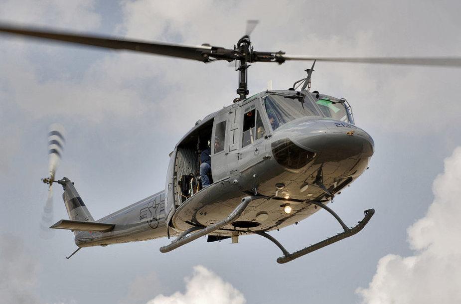 """JAV karinių oro pajėgų sraigtasparnis """"Bell UH-1"""""""
