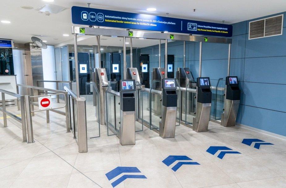 Vilniaus oro uoste – išmanieji patikros varteliai