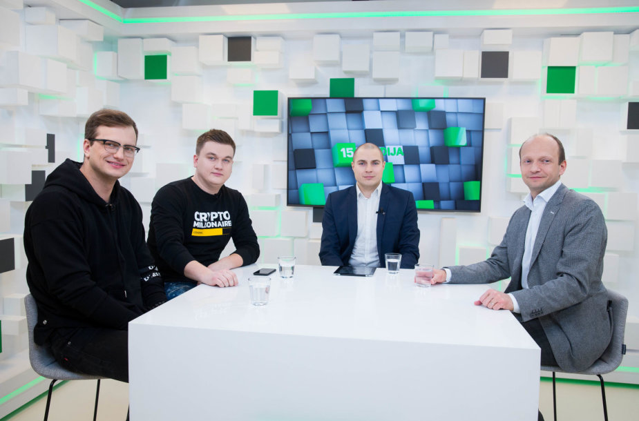 15min studijoje – diskusija, ko tikėtis iš kriptovaliutų 2018 metais
