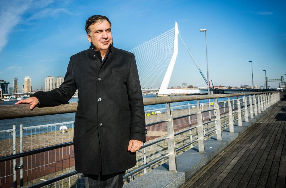 Michailas Saakašvilis Nyderlanduose