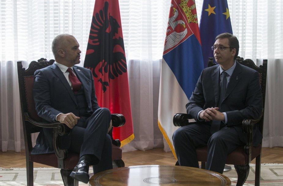 Albanijos ir Serbijos premjerų susitikimas Belgrade
