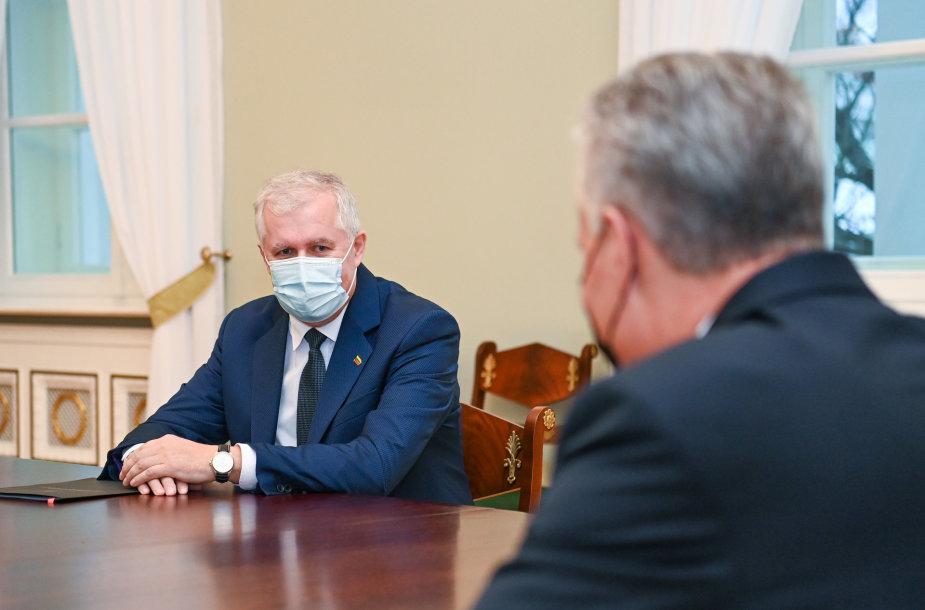 Prezidentas susitiko su kandidatu į krašto apsaugos ministrus Arvydu Anušausku
