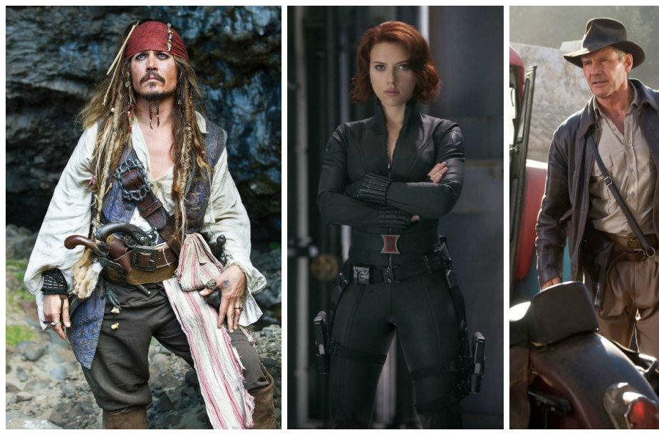 Johnny Deppas, Scarlett Johansson ir Harrisonas Fordas