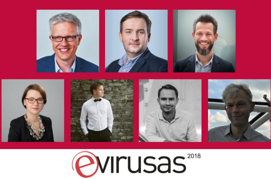 """Konferencijos  """"E. virusas 2018"""" dalyviai"""