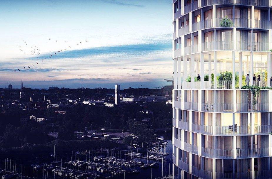 Vesterose bus statomas 22 aukštų daugiabutis