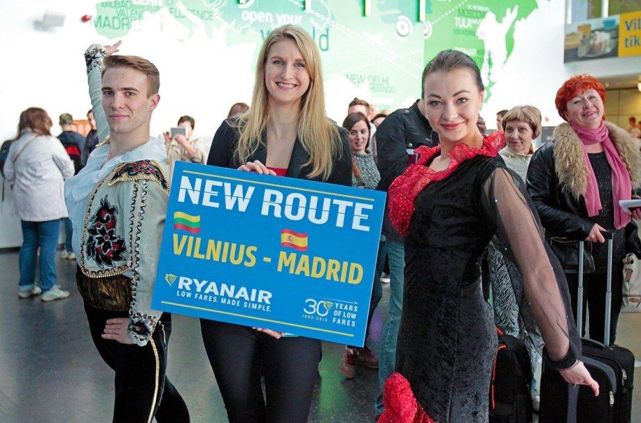 Skrydžiai iš Vilniaus į Madridą bus vykdomi keturis kartus per savaitę