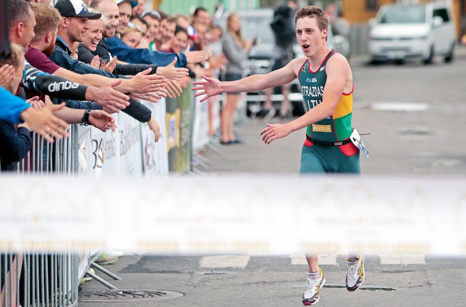 Trakuose patyrusių triatlonininkų pergalei lietus nepamaišė