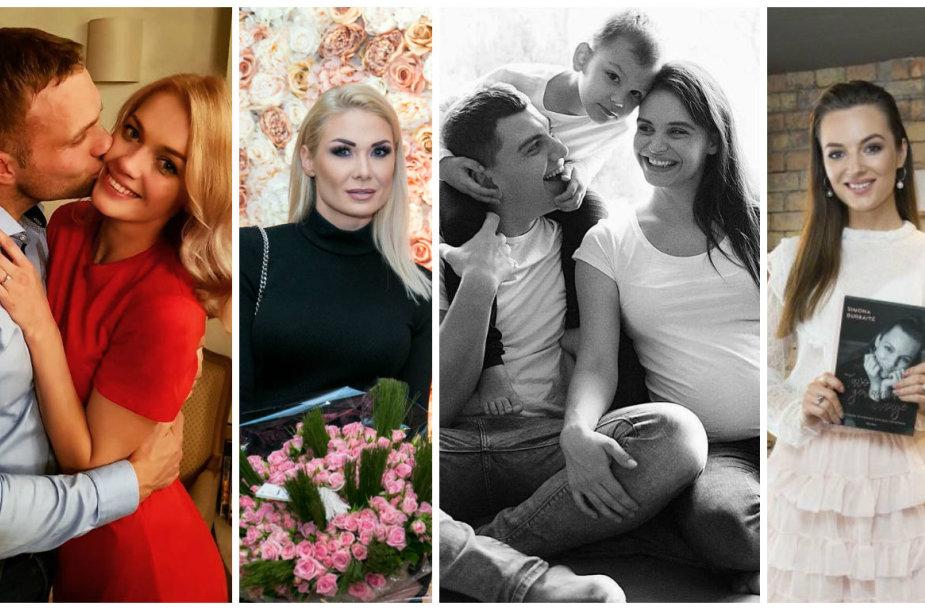 Viktorija Sutkutė su sužadėtiniu Kęstučiu, Natalija Bunkė, Rolandas Mackevičius su šeima, Simona Burbaitė