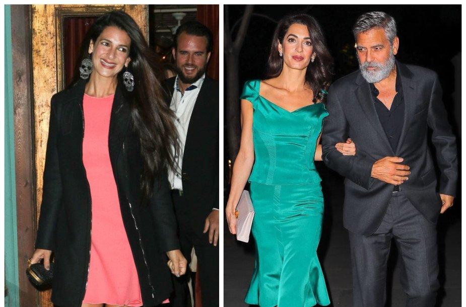 Tala Alamuddin Le Tallec, Amal Clooney ir George'as Clooney
