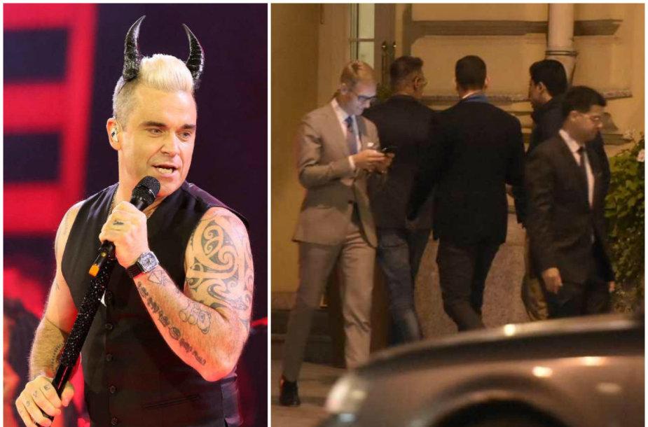 Robbie Williamsas atvyko į Vilnių