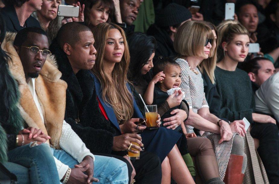 Seanas Combsas, Jay Z su Beyonce, Kim Kardashian su dukra North ir Anna Wintour