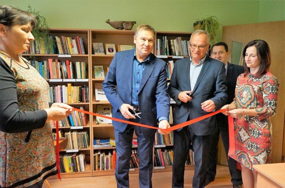 Užupių kaime atidaryta biblioteka