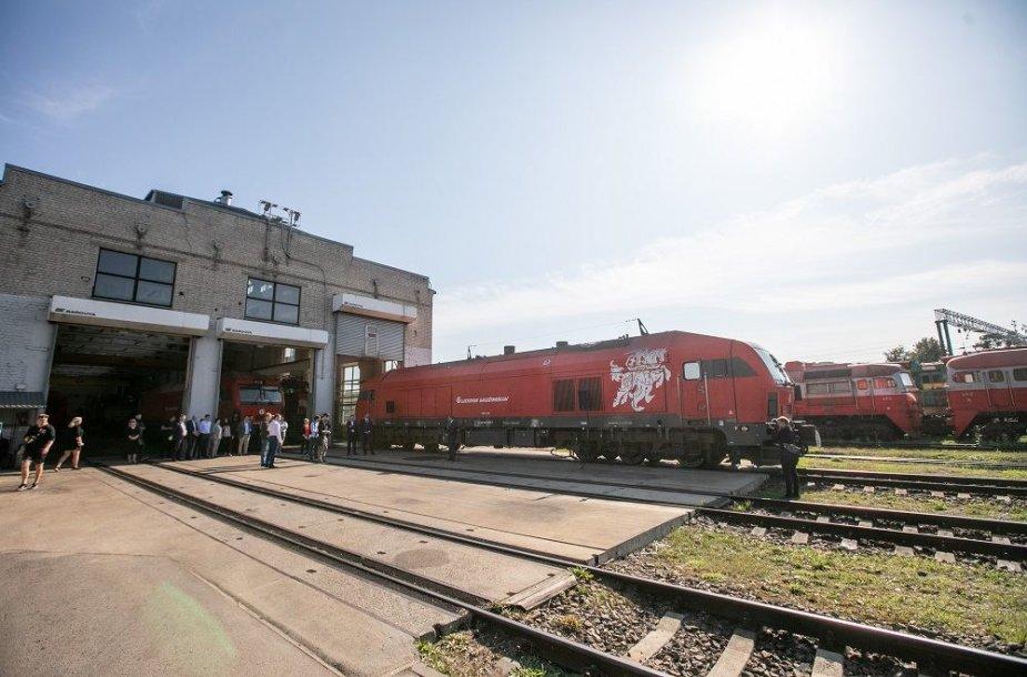 """""""Lietuvos geležinkelių"""" lokomotyvas"""
