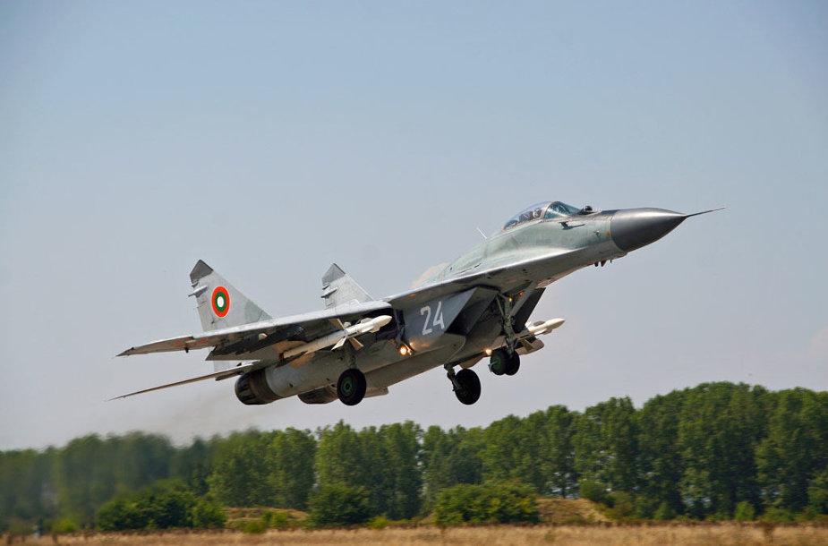 Bulgarijos karinių oro pajėgų naikintuvas MiG-29
