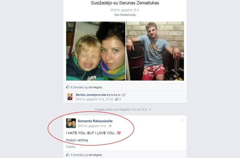 """Samanta Rakauskaitė per  """"Facebook"""" paskelbė apie sužadėtuves su Šarūnu"""