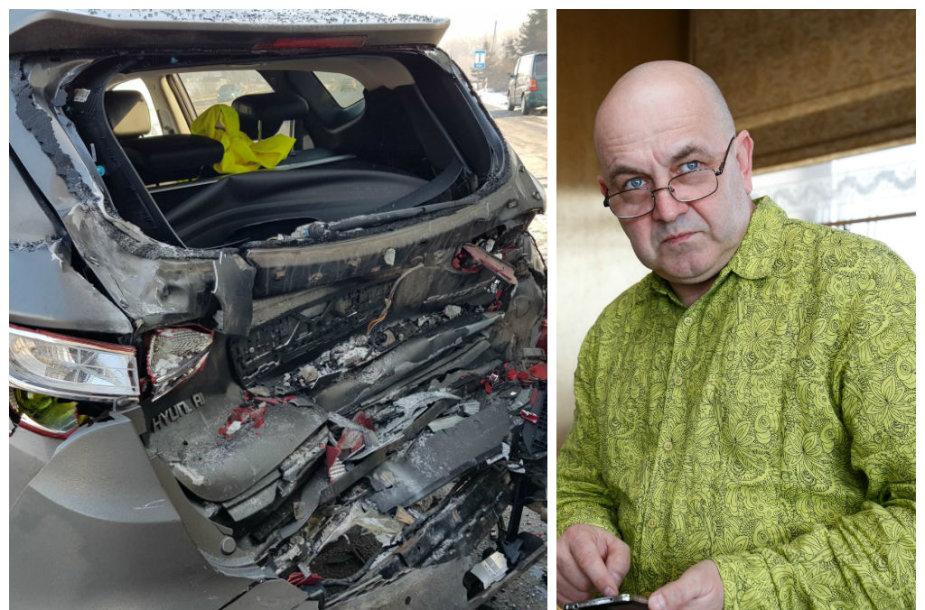 Artūro Orlausko vairuojamas automobilis pateko į avariją