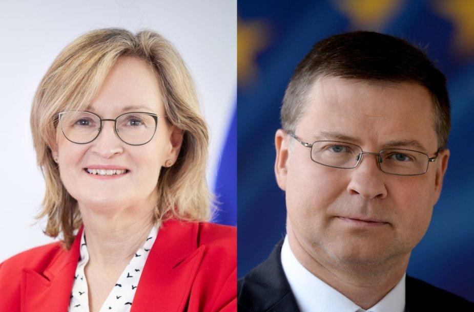 Mairead McGuinness ir Valdis Dombrovskis