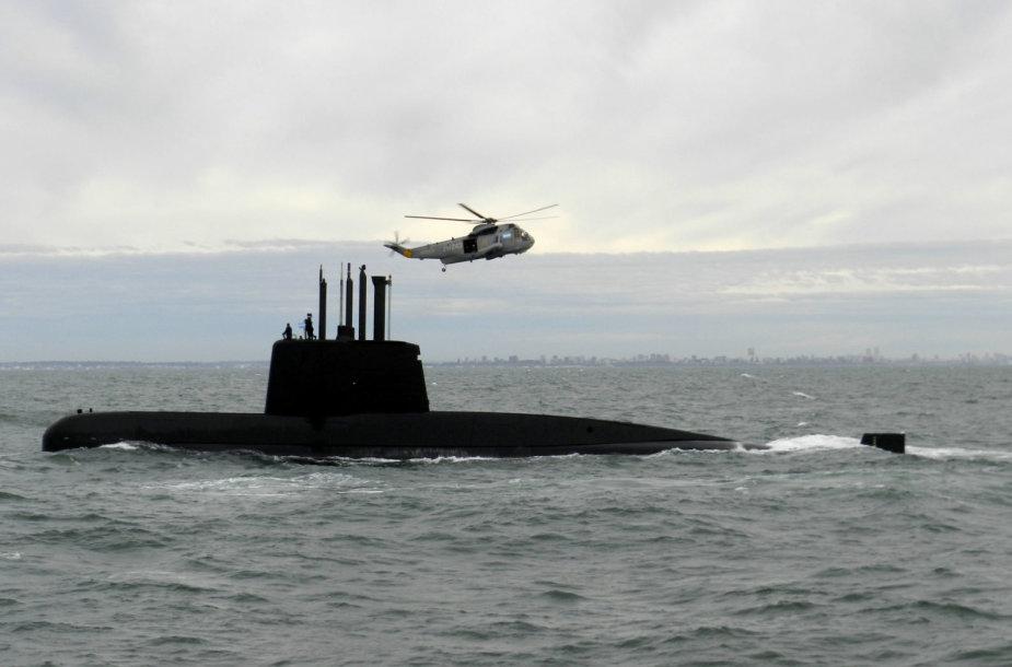 """Dingęs Argentinos povandeninis laivas """"ARA San Juan"""""""