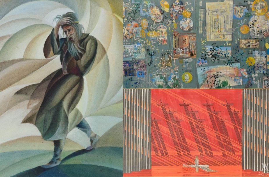 """Kazys Šimonis – """"Amžinas žydas"""" (XX a. 3 deš.), Kęstutis Zapkus – """"Kelionė į Veneciją"""" (2003–2004), Liudas Truikys – Dž. Verdžio operos """"Traviata"""" uvertiūros eskizas (1981–1984)"""