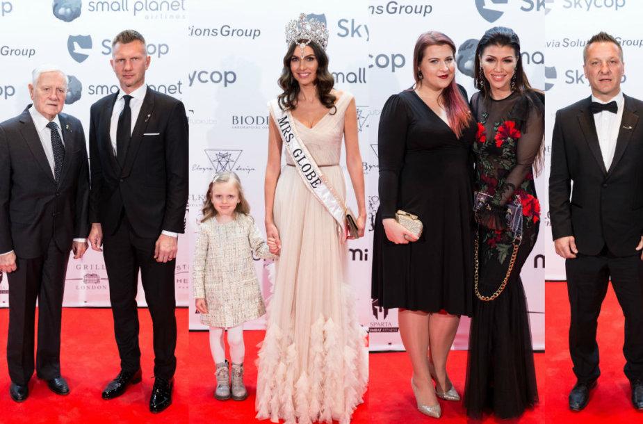 Valdas Adamkus, Rimantas Kaukėnas, Tatjana Lavrinovič su dukra, Erika Vitulskienė ir Elvyra Monginienė, Darius Kasparaitis