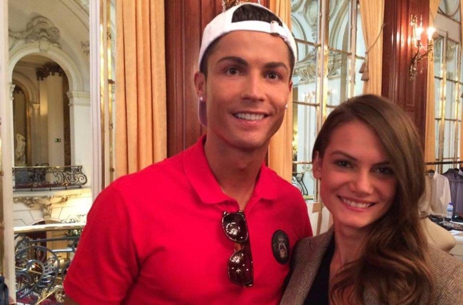 Cristiano Ronaldo ir Gabija Kulbokaitė