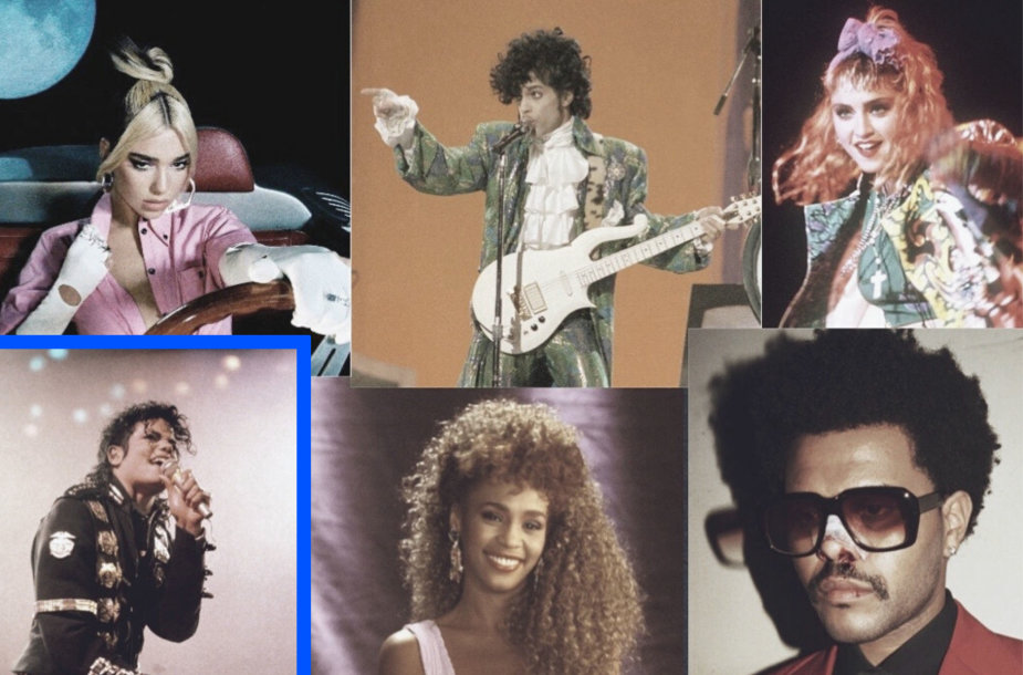 Michaelas Jacksonas, Whitney Houston, Prince'as, Madonna