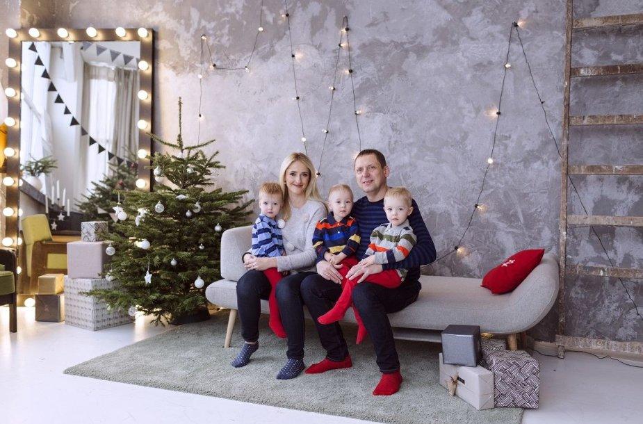 Justina Klyvienė su šeima